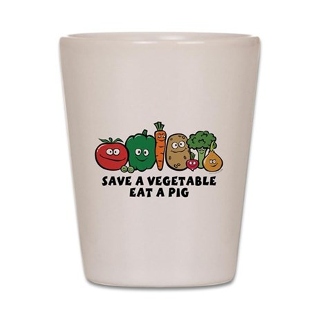 Save a Vegetable Shot Glass