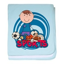 Boy Soccer All Star baby blanket