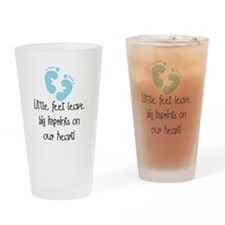 Baby Footprints Blue Pint Glass