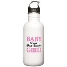 Baby Girl Great Grandma Sports Water Bottle