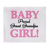 Baby Girl Great Grandpa Throw Blanket