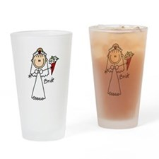 Stick Figure Bride Pint Glass