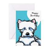 Cute Westie Birthday Greeting Cards (Pk of 20)