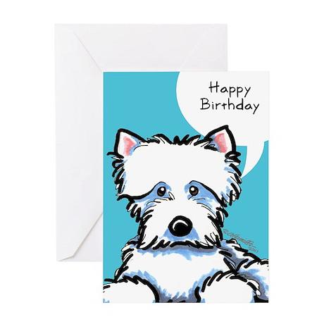Cute Westie Birthday Greeting Card