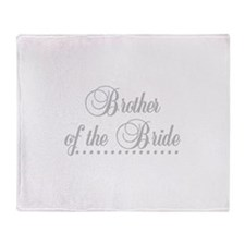 Brother of the Bride Throw Blanket
