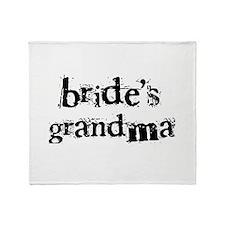 Bride's Grandma Throw Blanket