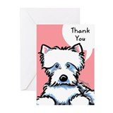 Cute Westie Thank You Greeting Cards (Pk of 20)