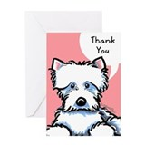 Cute Westie Thank You Greeting Card