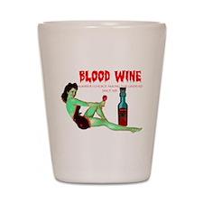 zombie /blood wine Shot Glass