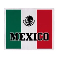 Mexican Flag Silhouette Throw Blanket