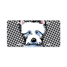 Cute Westie Aluminum License Plate
