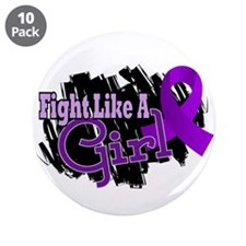 "Fight Like A Girl Fibromyalgia 3.5"" Button (10 pac"