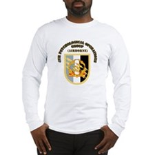 SOF - 4th PsyOps Flash with Text Long Sleeve T-Shi