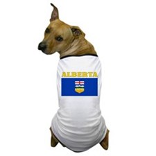 Alberta Flag Dog T-Shirt