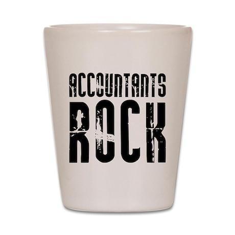 Accountants Rock Shot Glass