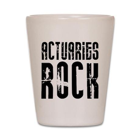 Actuaries Rock Shot Glass
