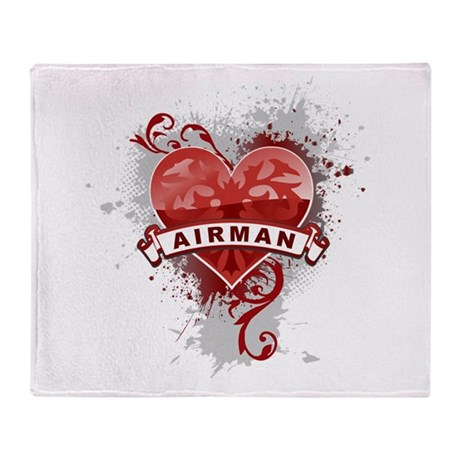 Heart Airman Throw Blanket