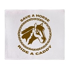 Ride A Caddy Throw Blanket