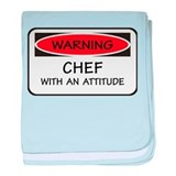 Chef With An Attitude baby blanket