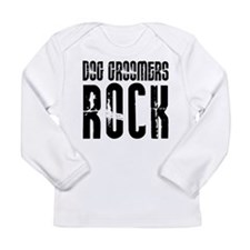 Dog Groomers Rock Long Sleeve Infant T-Shirt