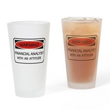 Attitude Financial Analyst Pint Glass