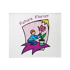 Future Florist Throw Blanket