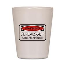 Attitude Genealogist Shot Glass