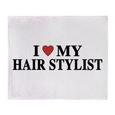 Hair Stylist Throw Blanket