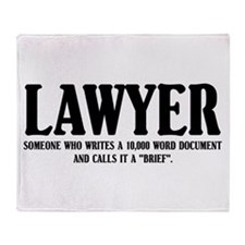 Funny Lawyer Throw Blanket