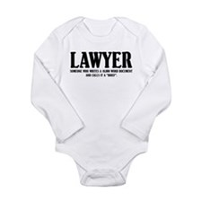 Funny Lawyer Long Sleeve Infant Bodysuit