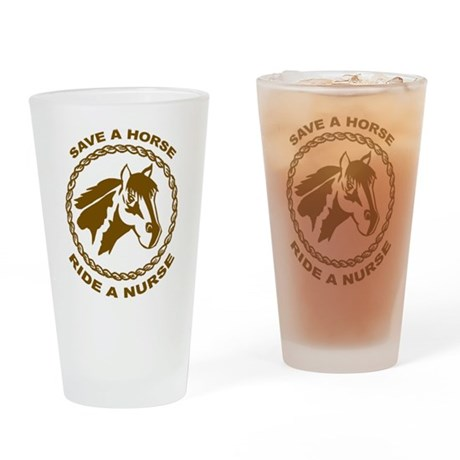 Ride A Nurse Pint Glass
