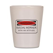 Attitude Social Worker Shot Glass