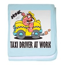 Taxi Driver At Work baby blanket
