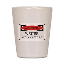 Attitude Writer Shot Glass