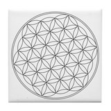 Flower Of Life Symbol Tile Coaster