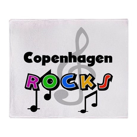 Copenhagen Rocks Throw Blanket