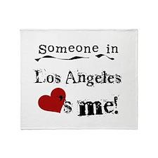 Los Angeles Loves Me Throw Blanket