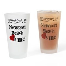 Newport Beach Loves Me Pint Glass