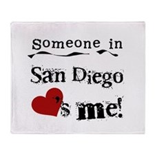 Someone in San Diego Loves Me Throw Blanket