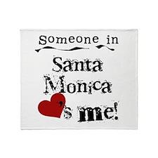 Santa Monica Loves Me Throw Blanket