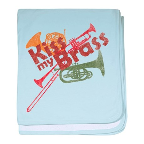 Kiss My Brass baby blanket