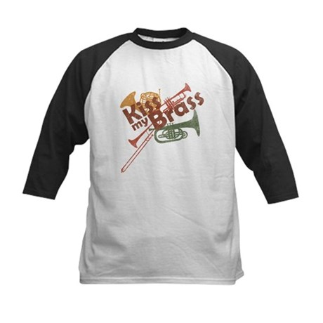 Kiss My Brass Kids Baseball Jersey
