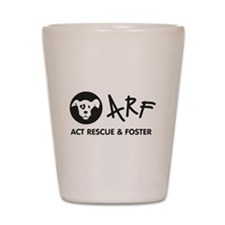Cute Act rescue foster Shot Glass