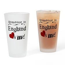 England Loves Me Pint Glass