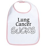 Lung Cancer Sucks Bib