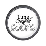 Lung Cancer Sucks Wall Clock