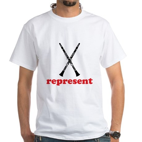 Clarinet Represent White T-Shirt