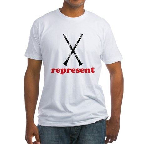 Clarinet Represent Fitted T-Shirt