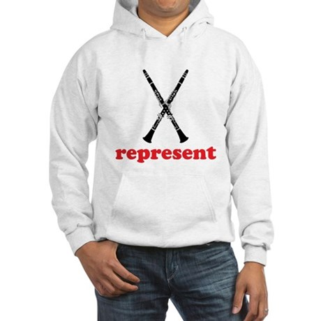 Clarinet Represent Hooded Sweatshirt