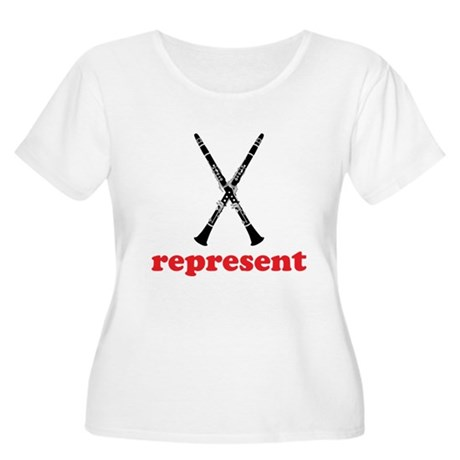 Clarinet Represent Women's Plus Size Scoop Neck T-